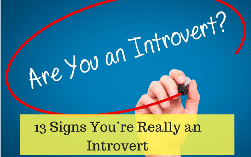 signs you are introvert